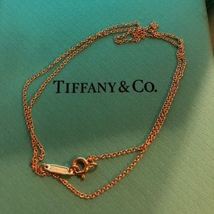Tiffany and co. 18k Rose gold chain